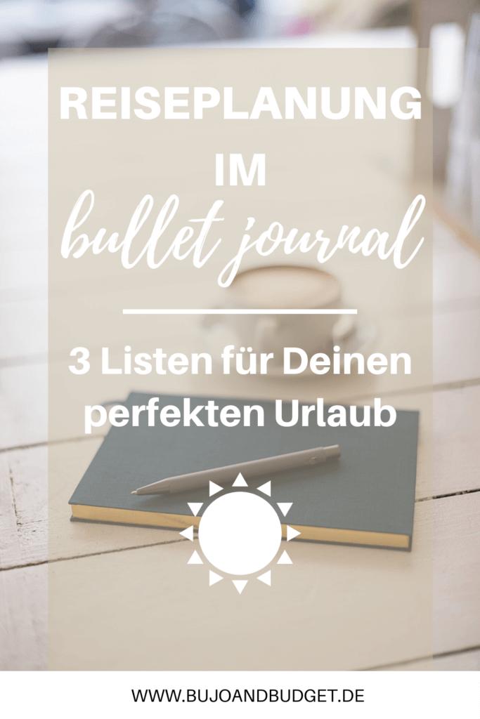 Reiseplanung im Bullet Journal