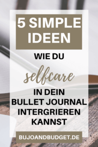 Selfcare Ideen Bullet Journal