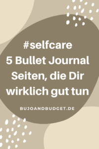 Selfcare Ideen Bullet Journal