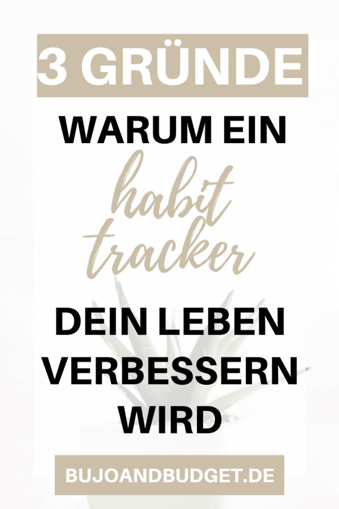 Habit tracker im Bullet Journal
