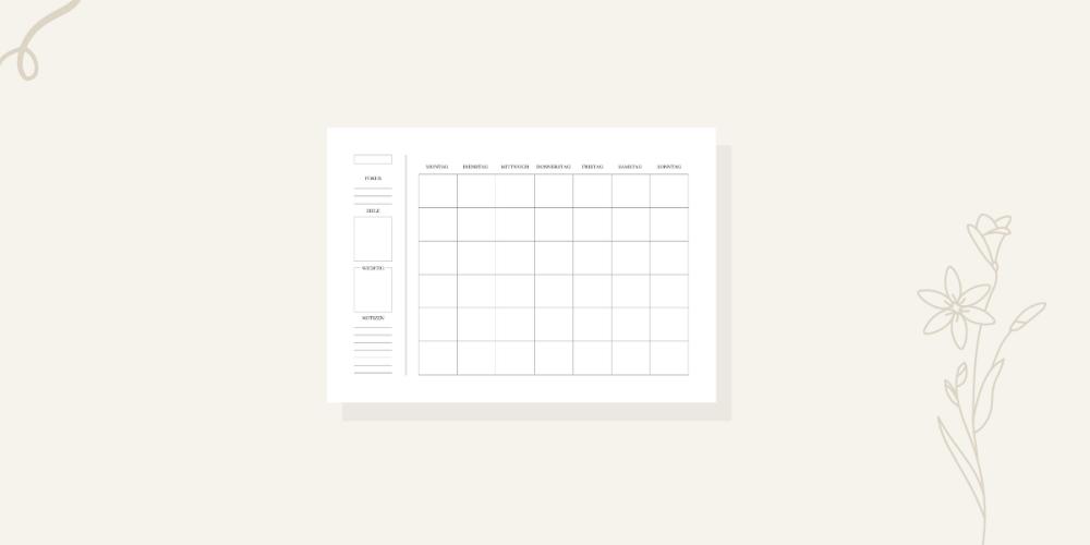 Produktvorschau Monatsplanung